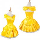 Belle Short Version Yellow Dress Beauty and the Beast Princess Belle Short Dress For Party