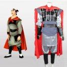 CosplayDiy Men's Costume Hua Mulan Li Shang Costume Outfit Cosplay For Christmas Party