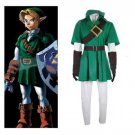 The Legend of Zelda Link Custom Made Dark Green Costume Cosplay for Carnival Party