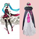 CosplayDiy Women's Dress Vocaloid Hatsune Miku Black Dress Cosplay For Christmas Party