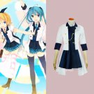 CosplayDiy Women's Dress Vocaloid Rin Hello Laughter Black & White Uniform Cosplay For Christmas