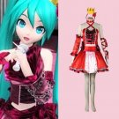 CosplayDiy Women's&Girl's Dress Vocaloid Hatsune Miku Vintage Dress Cosplay For Christmas Party