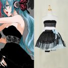 CosplayDiy Women's&Girl's Dress Vocaloid Hatsune Miku Magnet Black Dress Cosplay For Christmas Party
