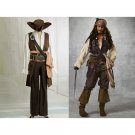 Cosplaydiy Men's Costume Pirates of the Caribbean Captain Jack Sparrow Cosplay Halloween Party