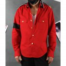 Custom Made Michael Jackson CTE Red Shirt Costume Adult Stage Cosplay