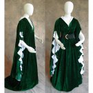 CosplayDiy Women's Green Medieval Gothic Renaissance Ball Gown Dress For Halloween