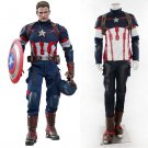 Cosplaydiy Men's Ourtfit Avengers Age of Ultron Captain America Cosplay Costume Steve Rogers Cosplay