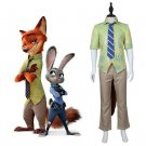Cosplaydiy Men's Clothing Zootopia Nick Wilde Cosplay Costume For Christmas Party
