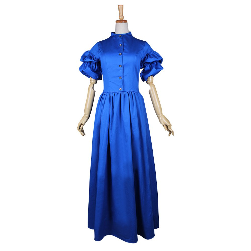 CosplayDiy Women's Blue Medieval Dress Renaissance Victorian Costume For Halloween Party