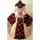 CosplayDiy Women's Wedding Dress Halloween Cosplay Medieval Dress Renaissance Costume
