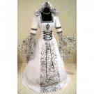 CosplayDiy Women's Medieval Victorian Renaissance Gothic Wedding Dress Halloween Costume Cosplay