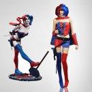 Custom Made Batman Harley Quinn Blue and Red Costume Halloween Cosplay