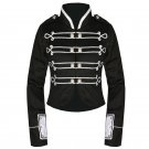 Custom Made Black Silver My Chemical Romance Crop Military Jacket For Halloween Party