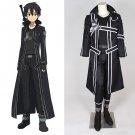 CosplayDiy Men's Outfit Sword Art Online Kirigaya Kazuto Kirito Cosplay Halloween Costume