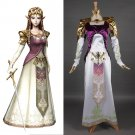 The Legend Of Zelda Princess Zelda Costume Dress Adult Women's Halloween Carnival Fantasy Cosplay