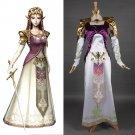 The Legend Of Zelda Princess Zelda Costume Dress Adult Women's Halloween Carnival Fantasy Cosplay