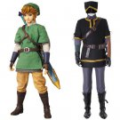 Link Costume Cosplay The Legend of Zelda Men's Outfit Black Version for Halloween Carnival Party