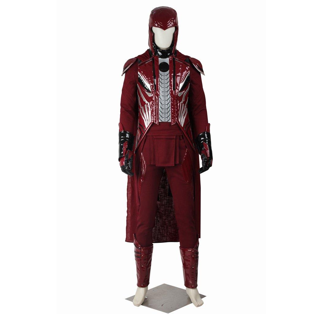 Cosplaydiy Men's Costume X-Men: Apocalypse Magneto Erik Lehnsherr Cosplay For Halloween Party