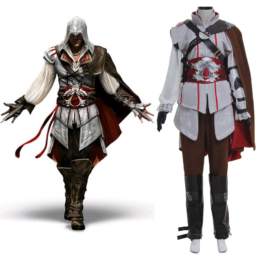 Custom Made Assassins Creed II Ezio Auditore da Firenze Costume Halloween Cosplay For Women