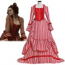 Cosplaydiy Women's Medieval Dress Sweeney Todd Mrs. Lovett's  Cosplay For Christmas Party