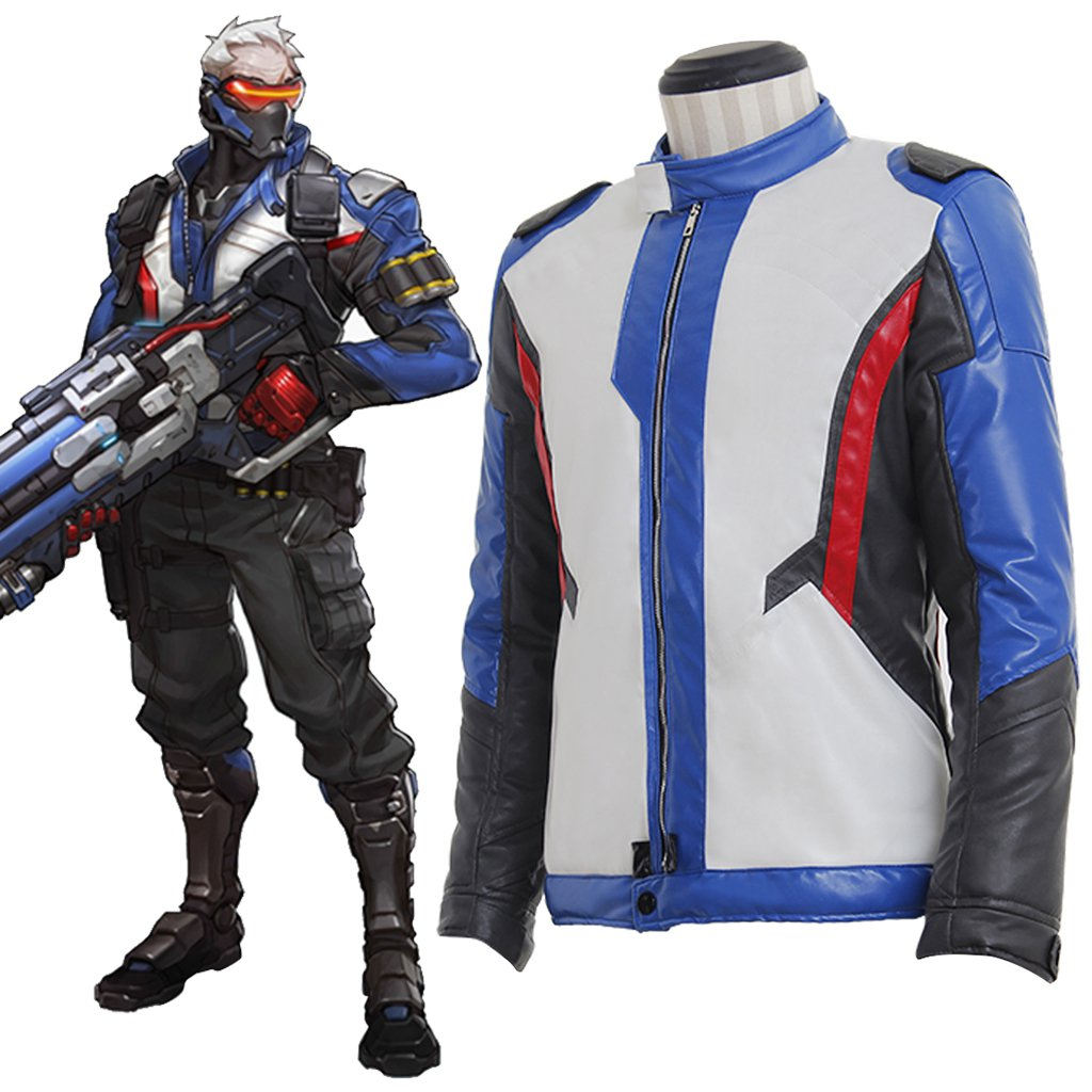 Custom Made Overwatch Soldier 76 Jacket Cosplay Costume For Halloween