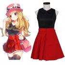 CosplayDiy Women's Pokemon GO Japanese Anime Pokemon GO XY Serena Costume Dress