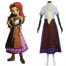 The Legend of Zelda Malon Top Skirt Costume Cosplay Women's Spring Dress for Carnival Party