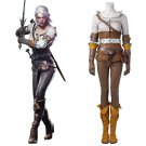 CosplayDiy The Witcher 3: Wild Hunt Cirilla Costume Cosplay Women's Clothing For Carnival