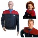 CosplayDiy Unisex Jacket Star Trek Voyager Kathryn Janeway Command Cosplay Costume