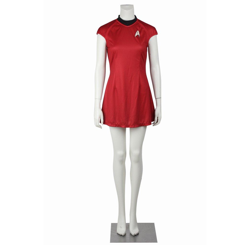 CosplayDiy Women's Red Dress Star Trek into Darkness Nyota Uhura Dress Unifrom Costume Cosplay