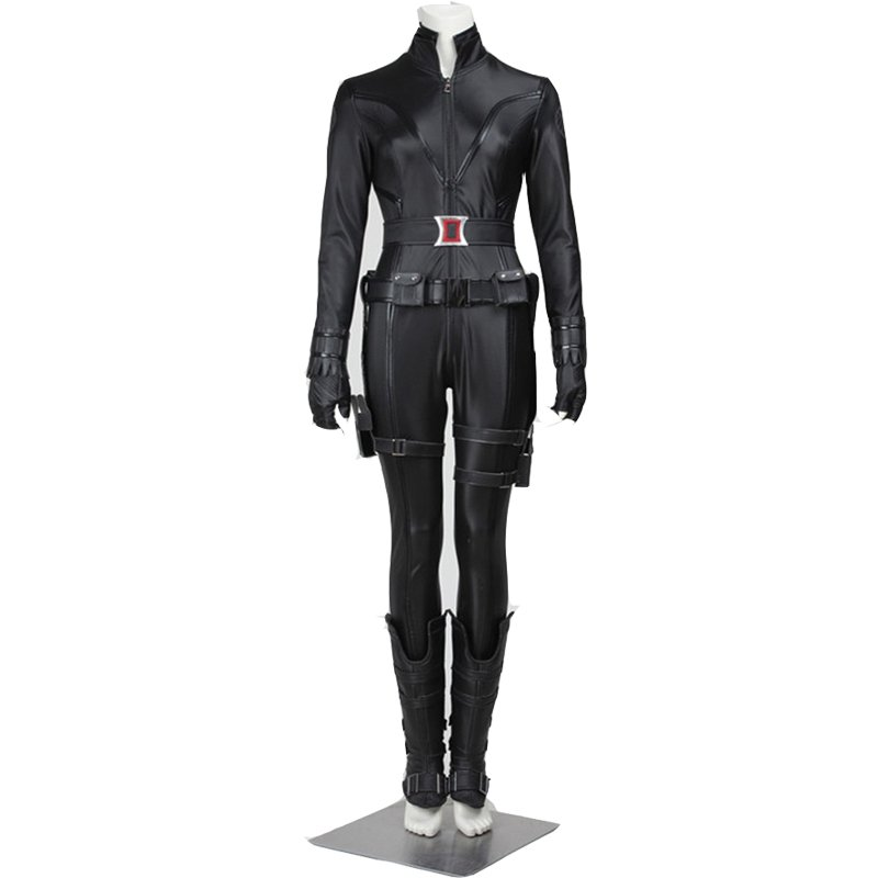 CosplayDiy Women's Costume The Avengers Black Widow Outfit Costume Cosplay for Halloween Carnival