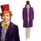 CosplayDiy Men's Suit Charlie and the Chocolate Factory Wilder as Willy Wonka Purle Jacket Cosplay
