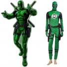 CosplayDiy Men's Costume Deadpool Costume Cosplay Green Style Outfit Costume Cosplay for Halloween