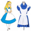 CosplayDiy Women's Dress Alice in Wonderland Alice Blue Dress Costume Cosplay for Cosplay Party