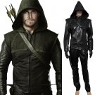 CosplayDiy Men's Costume Green Arrow Oliver Queen Outfit Black Version Costume Cosplay for Party