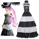 CosplayDiy Women's Dress One Piece Perona Luxury Black&White Cake Dress Costume Cosplay for Party