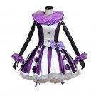 Girl's Purple Dress Momoiro Clover Custom Made Performance Short Dress for Carnival