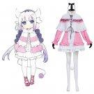 Kanan Pink Dress Cosplay Kobayashi-san Chi no Maid Dragon Adult's Custom Made Maid Dress Cosplay