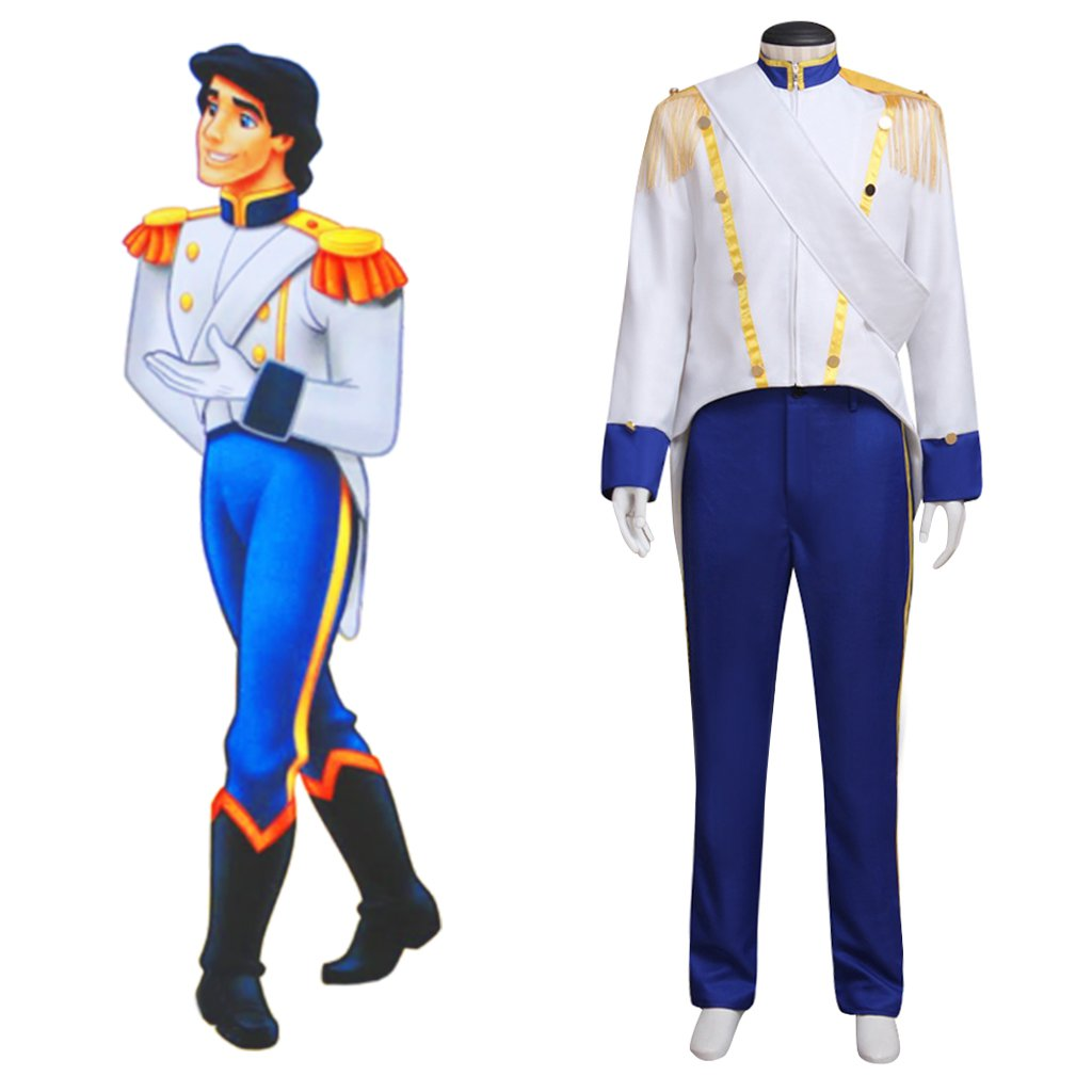 Prince Eric Costume Cosplay The Little Mermaid Custom Made Adult's Jacket Pants Costume Cosplay