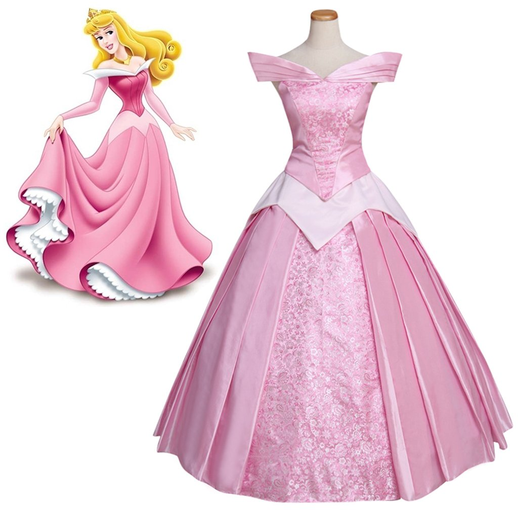 Adult's Pink Dress Sleeping Beauty Princess Aurora Custom Made Dress Cosplay for Party