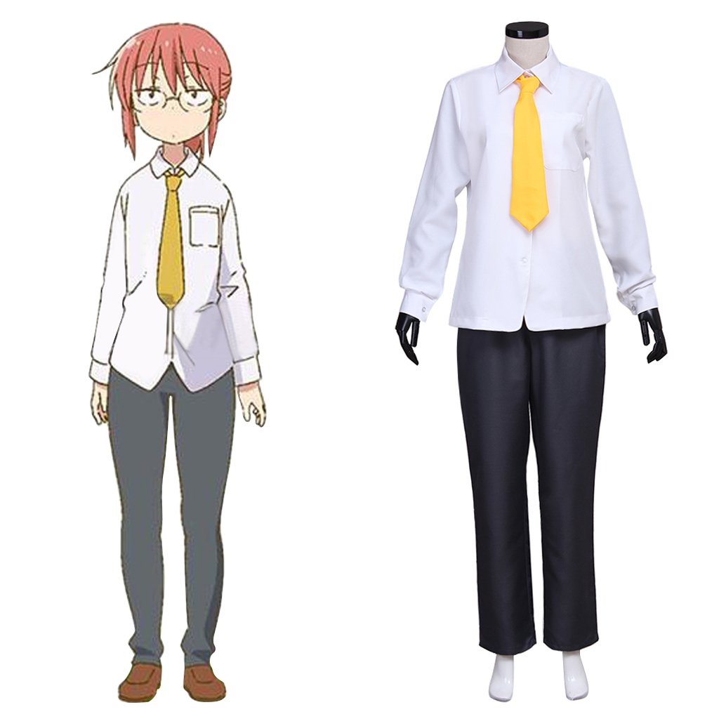 Anime Kobayashi-san Chi no Maid Dragon Adult's Custom Made Shirt Pants Costume Cosplay