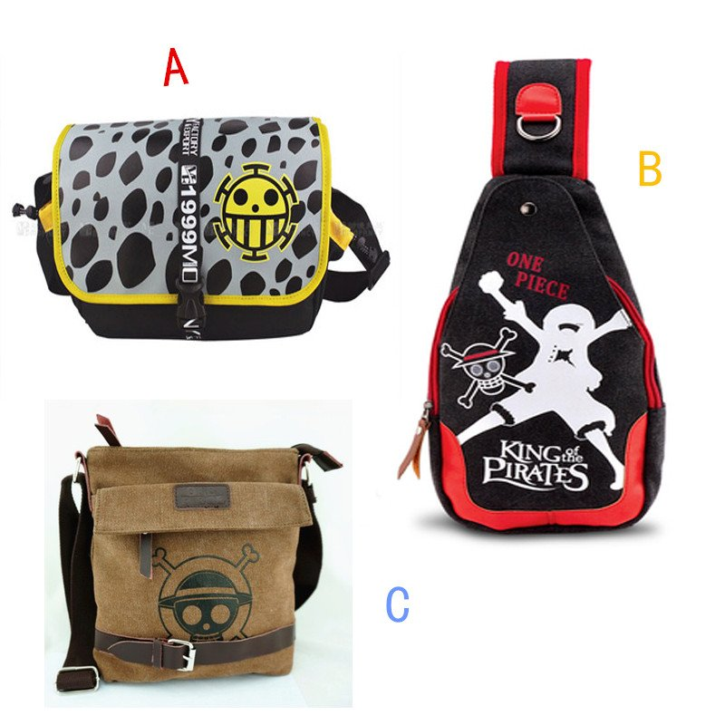 Anime One Piece Canvas Shoulder Bag Cosplay Accessary