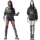 Watch Dogs 2 DedSec Costume Cosplay Adult's Custom  Made Top Shorts Scarf Cosplay
