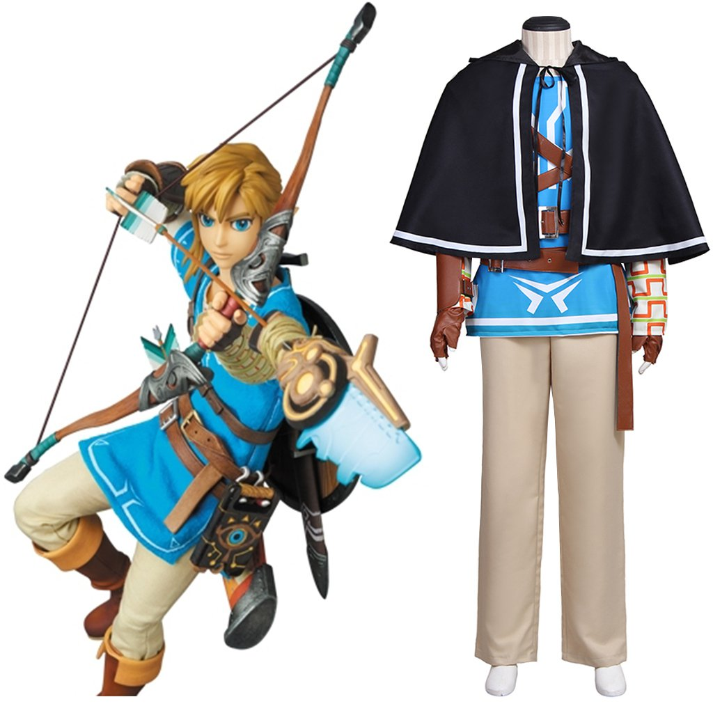 The Legend of Zelda:Breath of the Wild Link Costume Cosplay for Carnival Party