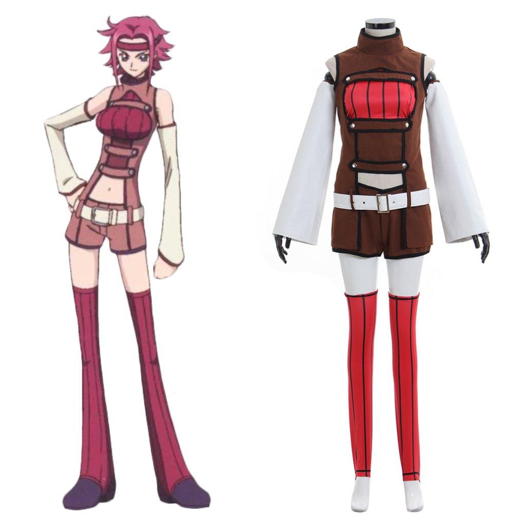 Code Geass Kallen Stadtfeld Costume Cosplay Custom Made Adult's Top Shorts Cosplay