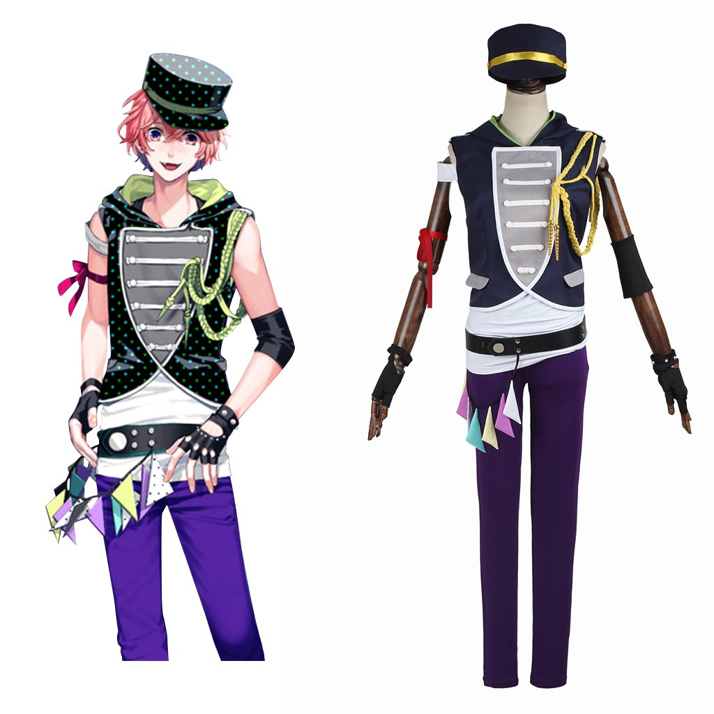 Free Shipping B-Project Ambitious Ashu Yuuta Custom Made Costume Cosplay for Carnival Party