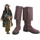 Pirates of Caribbean Captain Jack Shoes Cosplay Adult's Boots Custom Cosplay Accessories