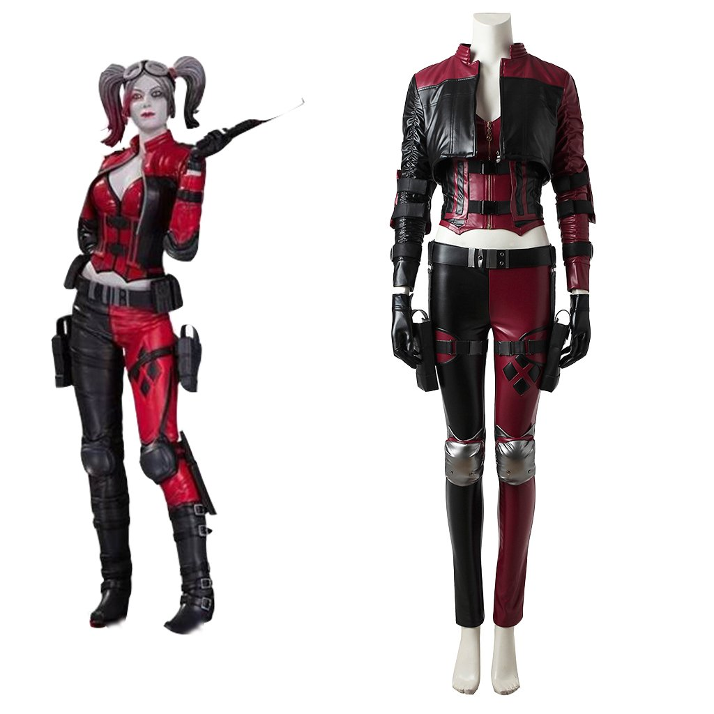 Injustice 2 Harley Quinn Leather Costume Cosplay Adult's Halloween Costume Cosplay