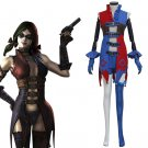 Cosplaydiy Adult Women's Dress Batman Harley Quinn Cosplay For Christmas Party