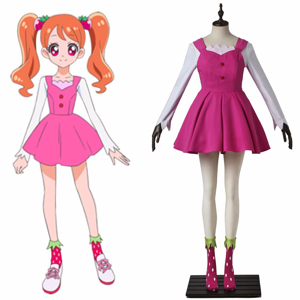 japanese anime kirakira pretty cure a la mode cure whip cosplay costume dress girls party costume. Black Bedroom Furniture Sets. Home Design Ideas